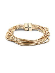 Punch Multi Strand Snake Chain Bracelet Gold