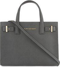 Kurt Geiger London London Saffiano Leather Tote Grey