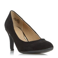 Head Over Heels Annie Round Toe Court Shoes Black