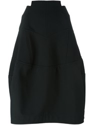 Comme Des Garcons High Waisted Structured Skirt Black