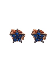 Aamaya By Priyanka Sapphire And Rose Gold Plated Star Earrings
