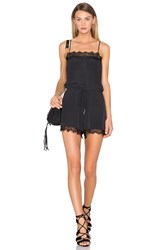 House Of Harlow X Revolve Nora Lace Detail Romper Black
