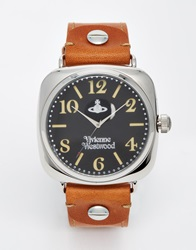 Vivienne Westwood Leather Strap Watch Vv061slbr Tan
