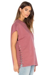 Iro Roldan Lace Up Sweatshirt Rose