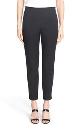 Women's Ming Wang Woven Slim Ankle Pants Black