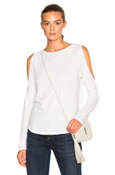 Pam And Gela Cold Shoulder Tee In White