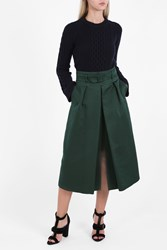 Martin Grant High Waist Belted Skirt Green