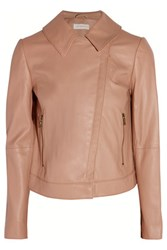 Tory Burch Cropped Leather Biker Jacket Neutral