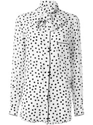 Dolce And Gabbana Polka Dot Blouse White