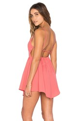Glamorous Fit And Flare Dress Pink
