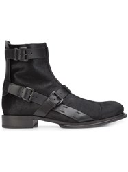 Ann Demeulemeester 'Pony Strap' Boots Black