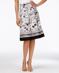 Charter Club Printed A Line Skirt Only At Macy's Deep Black