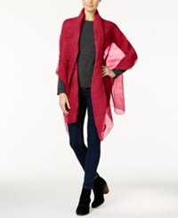 Steve Madden Petite Pleats Solid Day Wrap Red