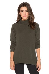 Velvet By Graham And Spencer Brawnie Cashmere Classic Turtleneck Green