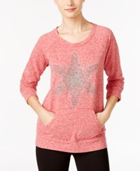 Styleandco. Style Co. Snowflake Graphic Sweatshirt Only At Macy's New Red Amore