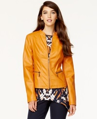 Alfani Petite Faux Leather Bomber Jacket Only At Macy's New Sweet