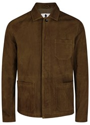 Nn.07 Oscar Brown Suede Jacket Tan