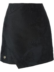 Philipp Plein Jacquard Mini Skirt Black