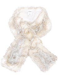 Chalayan Faux Fur Scarf Nude Neutrals