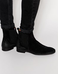 Selected Homme Yannick Suede Chelsea Boots Black