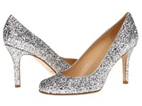 Kate Spade Karolina Silver Glitter Silver Metallic Nappa Women's Slip On Dress Shoes