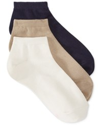 Hanes Women's Comfort Soft Crew Low Cut Socks 3 Pack Khaki