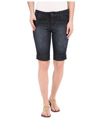 Kut From The Kloth Natalie Bermuda Shorts In Direct W Dark Stone Base Wash Direct Dark Stone Base Wash Women's Shorts Black