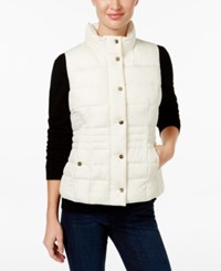 Charter Club Petite Quilted Vest Only At Macy's Vintage Cream