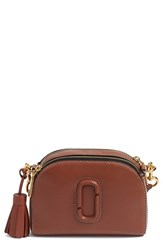 Marc Jacobs 'Small Shutter' Leather Camera Bag Brown Cognac