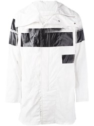 Nil0s Printed Raincoat White