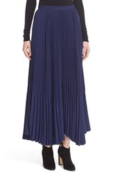 Theory Women's 'Laire Winslow Crepe' Pleat Maxi Skirt Sea Blue