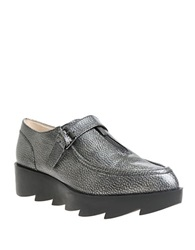 William Rast Dee Leather Platform Loafers Grey