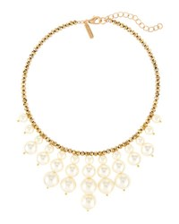 Panacea Crystal And Pearlescent Bead Statement Collar Necklace Ivory