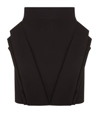 Balmain Folded Peplum Mini Skirt Female Black