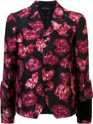 Comme Des Garcons Abstract Print Fitted Jacket Black