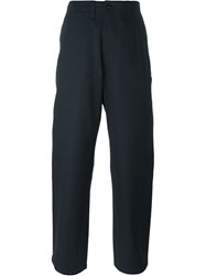 E. Tautz 'Corefield' Wide Leg Trousers Blue