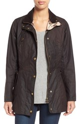 Women's Barbour 'Holsteiner' Skirted Waxed Cotton Jacket