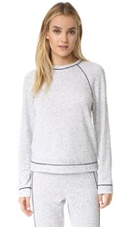 Cosabella Gloria Long Sleeve Crew Top Ivory Black