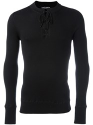 Dolce And Gabbana Fitted Knit T Shirt Black