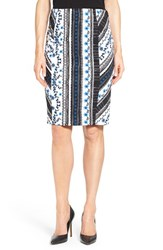 Women's Cece By Cynthia Steffe 'Riviera Stripe' Knit Pencil Skirt