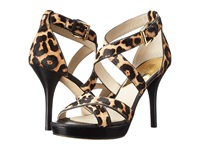 Michael Michael Kors Evie Platform Natural Cheetah Haircalf Nappa High Heels Animal Print