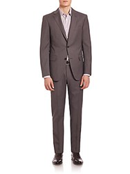 Pal Zileri Two Button Pinstriped Suit Grey