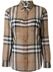 Burberry Brit Checked Shirt Brown