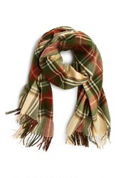 Junior Women's David And Young Plaid Blanket Scarf
