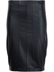 Narciso Rodriguez Panelled Fitted Skirt Black