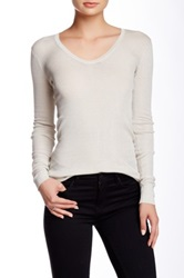 Inhabit Long Sleeve Silk Blend Tee Beige
