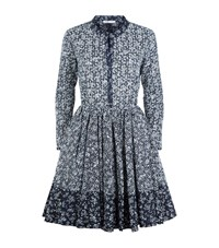 Maje Rayana Floral Dress Female Dark Blue