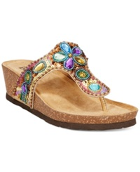 White Mountain Brightspot Wedge Sandals Women's Shoes