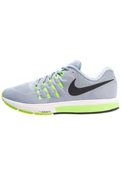 Nike Performance Air Zoom Vomero 11 Cushioned Running Shoes Blue Grey Black Pure Platinum Electric Green Summit White