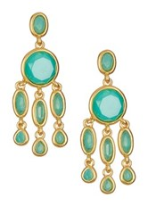 Karen Kane Baja Chandelier Earrings Green